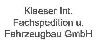Klaeser Int. Fachspedition u. Fahrzeugbau GmbH