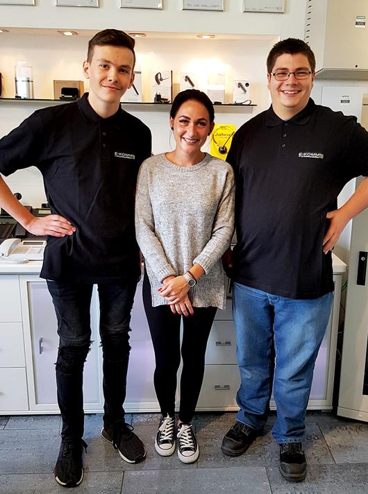Ausbildung 2019: Wir begrüßen Alexander Rößler, Laura Hallermann und Sven Nickel im E-KOMM-Team